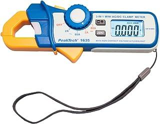 Peak Tech P 1635Pinza amperometrica Ampere Meter/kriechstrom Pinza Pinza amperometrica differenziale//Pinza Amperometrica con 1ma Risoluzione 2400conteggi, 2a/80a AC DC con torcia led e NCV