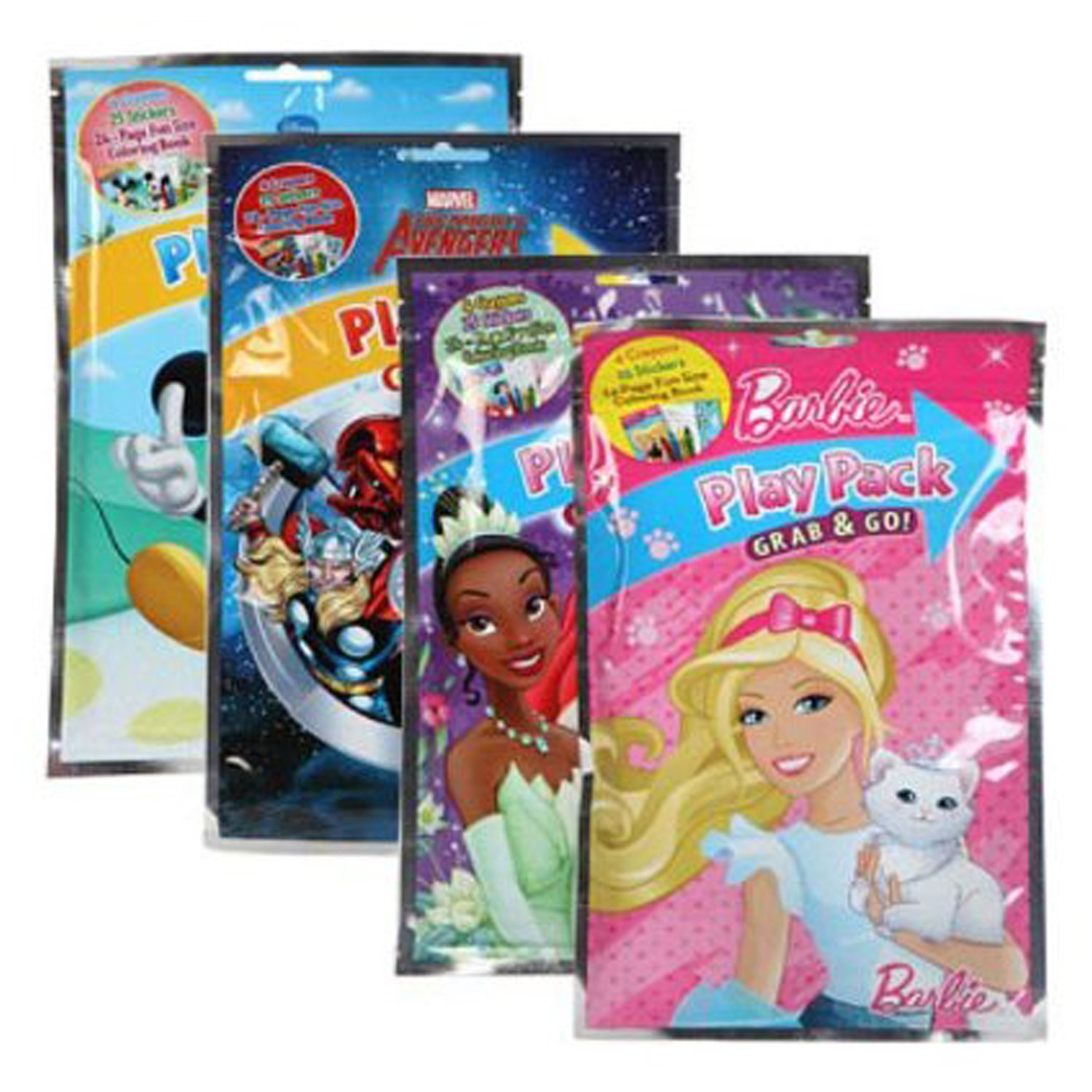 amazoncom bazic disney grab and go playpacks pack 24 toys games - Dollar Tree Coloring Books