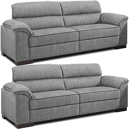 Ealing gris tela de chenilla sofá de 3 plazas y 2 Plazas ...