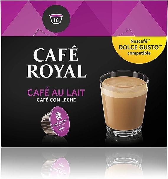 Café Royal Café con Leche 48 cápsulas compatibles con Nescafé (R ...