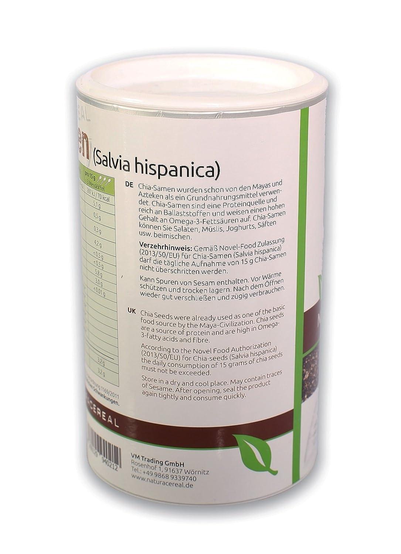Semillas de Chia envasado en 450g con una cuchara práctica de NATURACEREAL: Amazon.es: Alimentación y bebidas