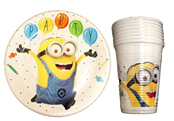 32 piezas Minion desechables Vajilla para Fiesta Party Set