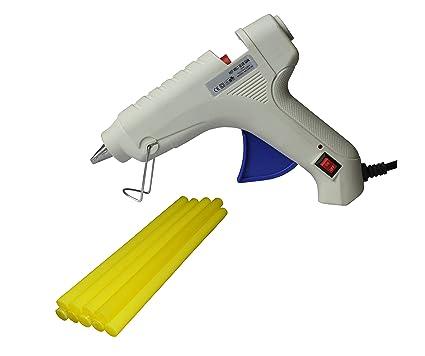 iwill BNY 40W 40 Watt Hot Melt Glue Gun (On Off Switch & Indicator) with 8 Yellow Glue Sticks for DIY & Craft Work