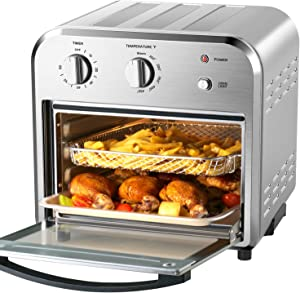 Geek Chef Convection Air Fryer Oven, 4 Slice Toaster Airfryer Countertop Oven, Roast, Bake, Broil, Reheat, Fry Oil-Free, 4 Accessories Included