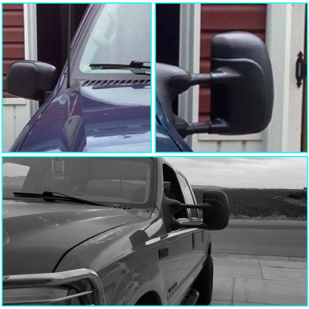 T-Former DOT Approved Pair High Performance Towing Mirrors Telescoping Towing Mirror Passenger and Driver Side Mirrors For 1999-2007 Ford F250 F350 F450 F550 Super Duty Pickup