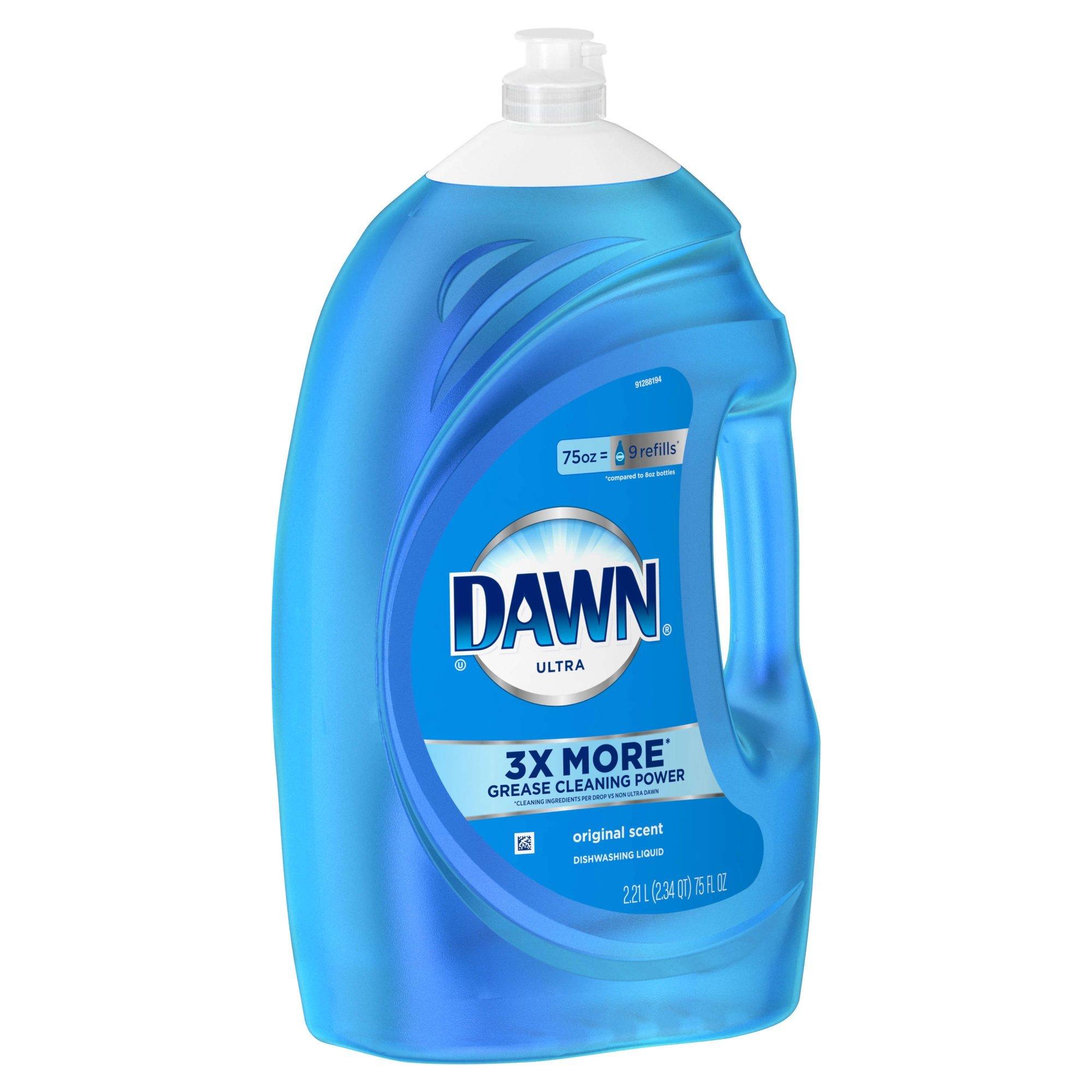 Dawn Ultra Dishwashing Liquid Dish Soap, Original Scent, 75 Fluid Ounce
