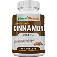 CEYLON Cinnamon Extract 2000mg 150 Tablets - High Potency - Blood Sugar Control - Powerful Natural Antioxidant - Potent Anti-Inflammatory - Encourages Lower Cholesterol Levels - Anti-Diabetic Effect