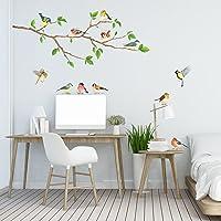 DECOWALL DA-1804 Tuin vogels op boomtak Kinderen muurstickers Schil en plak Afneembaar baby Kinderkamer babykamer…