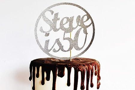 Adorno para tarta con el nombre de la edad para cualquier ...