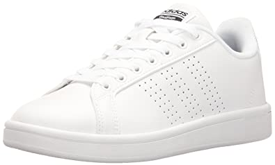 adidas Women s Shoe s Cloudfoam Advantage Clean Sneakers White Black 690a29bec