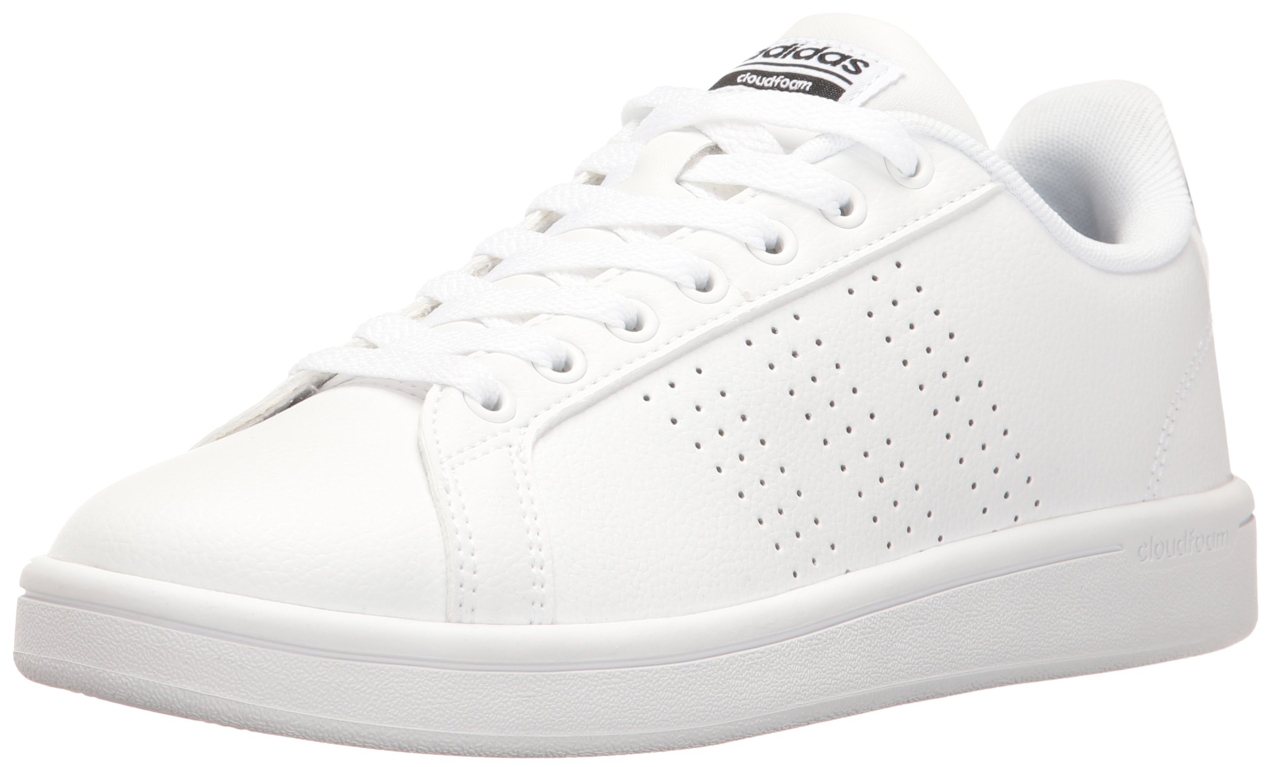 adidas Women's Shoes Cloudfoam Advantage Clean Sneakers white/White/Black, (8 M US)