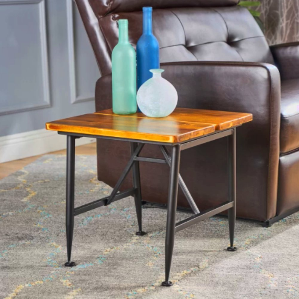Multiuse Coffee Table, Side Table, Brown Color, Solid Wood Material, Acacia, Decor Complement, Durable And Sturdy, Attractive, Eye-Catching, Ideal For Outdoors, Backyard, Patio, Porch Garden & E-Book.