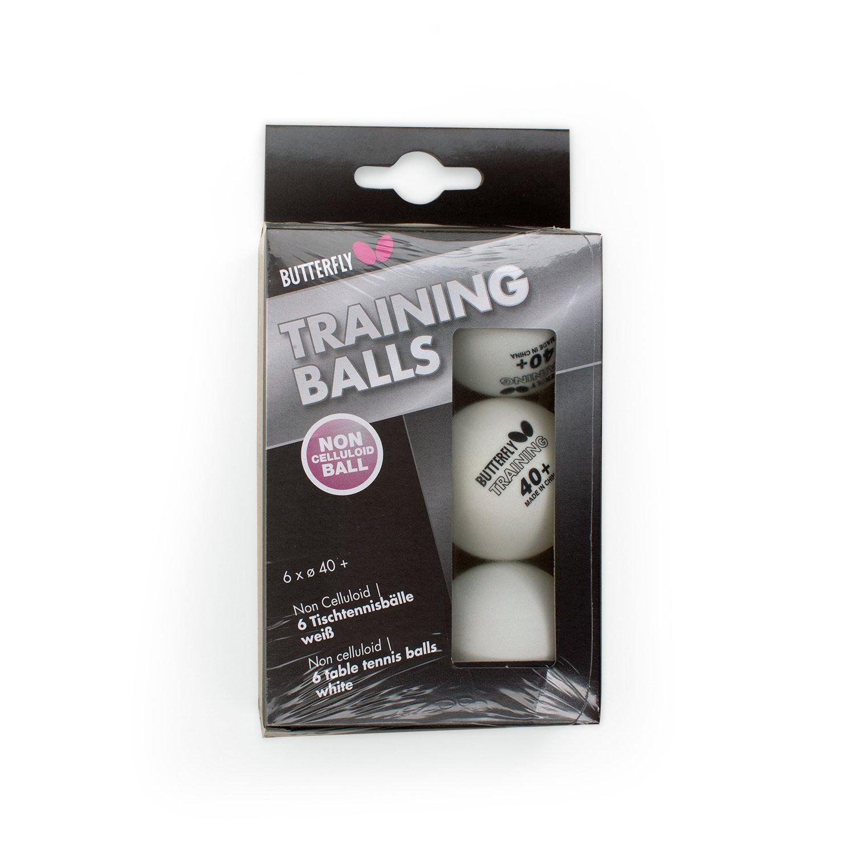 Butterfly Trainingsbälle 6STK. Tischtennisbälle (6Stück)–Weiß 2123834