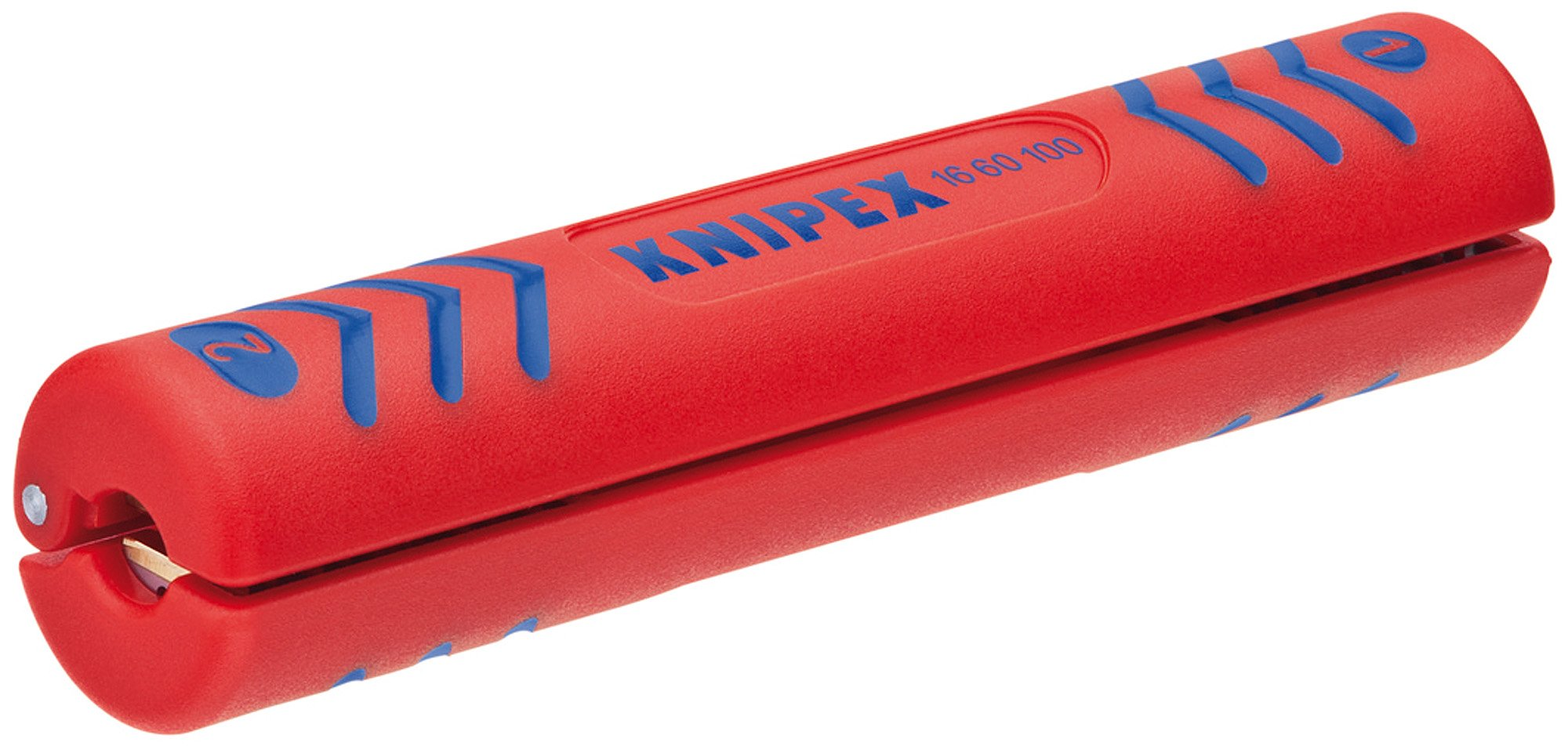 Knipex 16 60 100 SB Stripping Tool for coax cables 3,94'' in blister packaging
