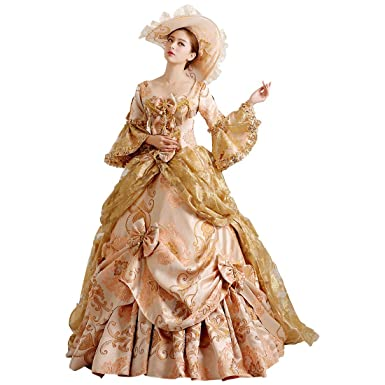 Partiss Damen Gothic Lolita Retro Style Prom Victorian Cosplay ...