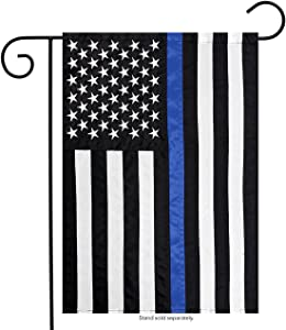 "Briarwood Lane Thin Blue Line Police Embroidered Garden Flag Emergency Services 12.5"" x 18"""