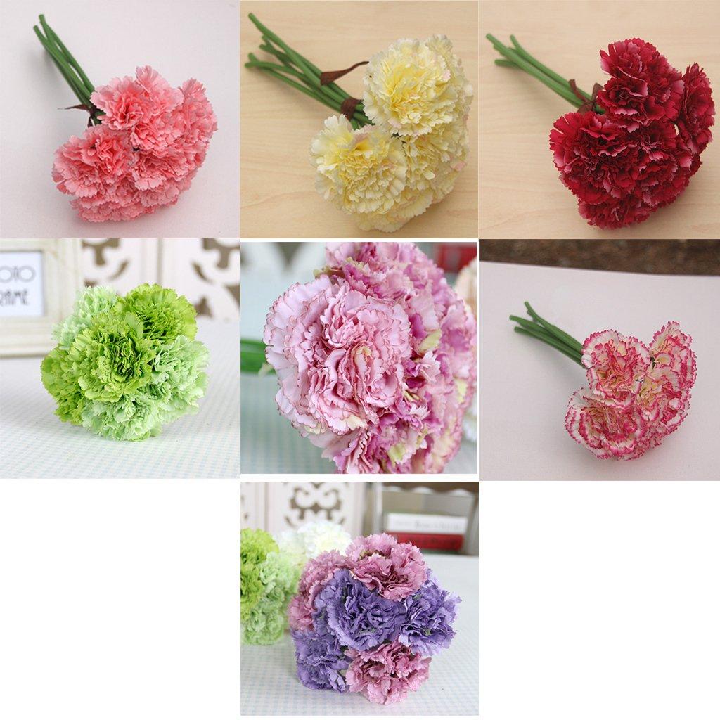 Amazon Magideal Artificial Silk Flower Carnation Bouquet
