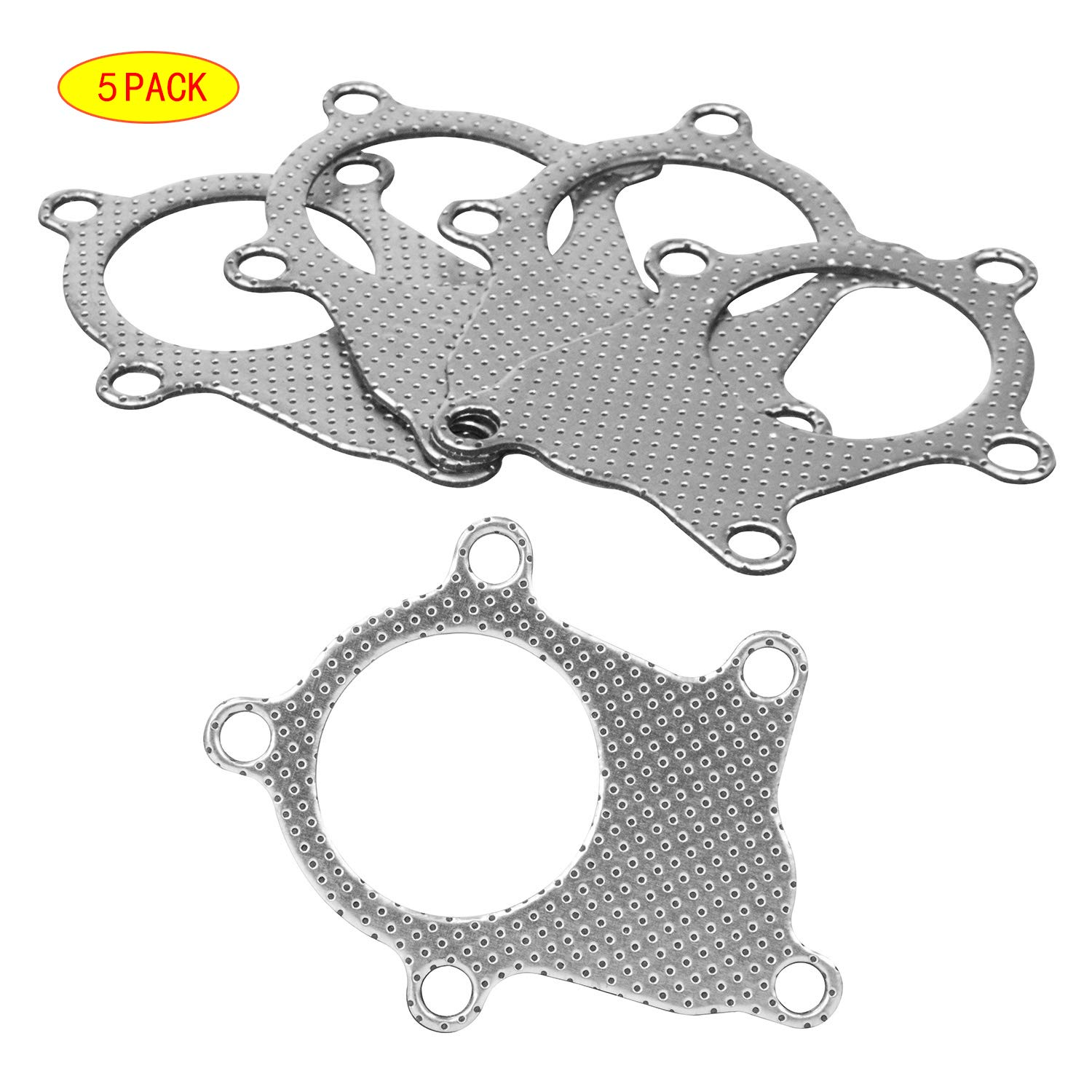 PTNHZ 5 Pcs Graphite Aluminum Turbo Charger Inlet Manifold Flange Down Pipe Gasket for T4