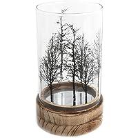 Madera de árbol de hermoso cristal vela portavelas