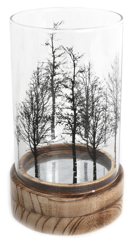 Beautiful Tree Glass Wood Candle Tealight Holder Carousel Home