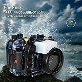 Für Sony A6500 A6300 A6000 195FT/60M Unterwasser Kamera Tauchen Wasserdicht Gehäuse