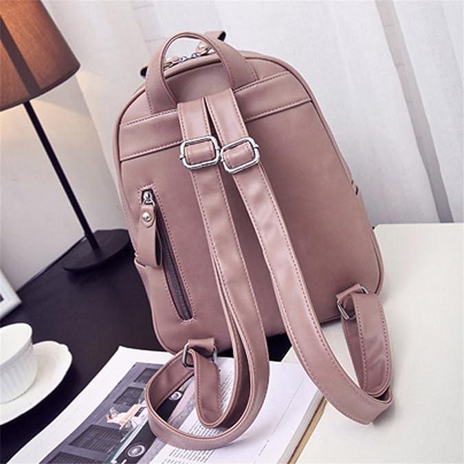 Amazon.com: Shining4U Women Backpack Geometric Patchwork Female School Bags PU Leather Backpacks for Teenagers Girls Mochila PinkL20xW10xH30cm: Shoes