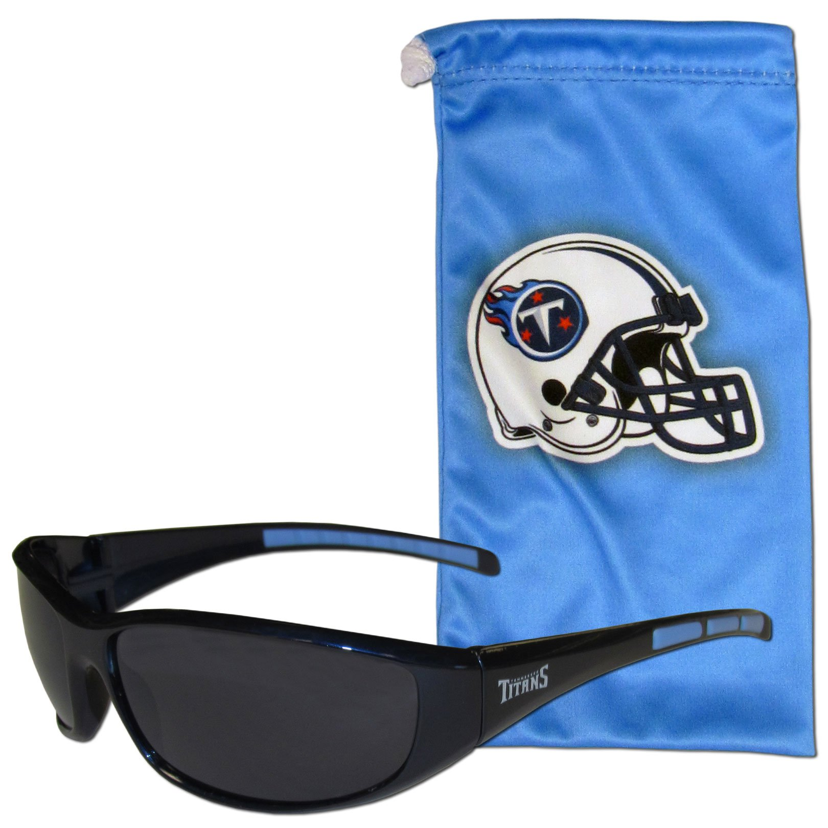 NFL Tennessee Titans Adult Sunglass and Bag Set, Blue