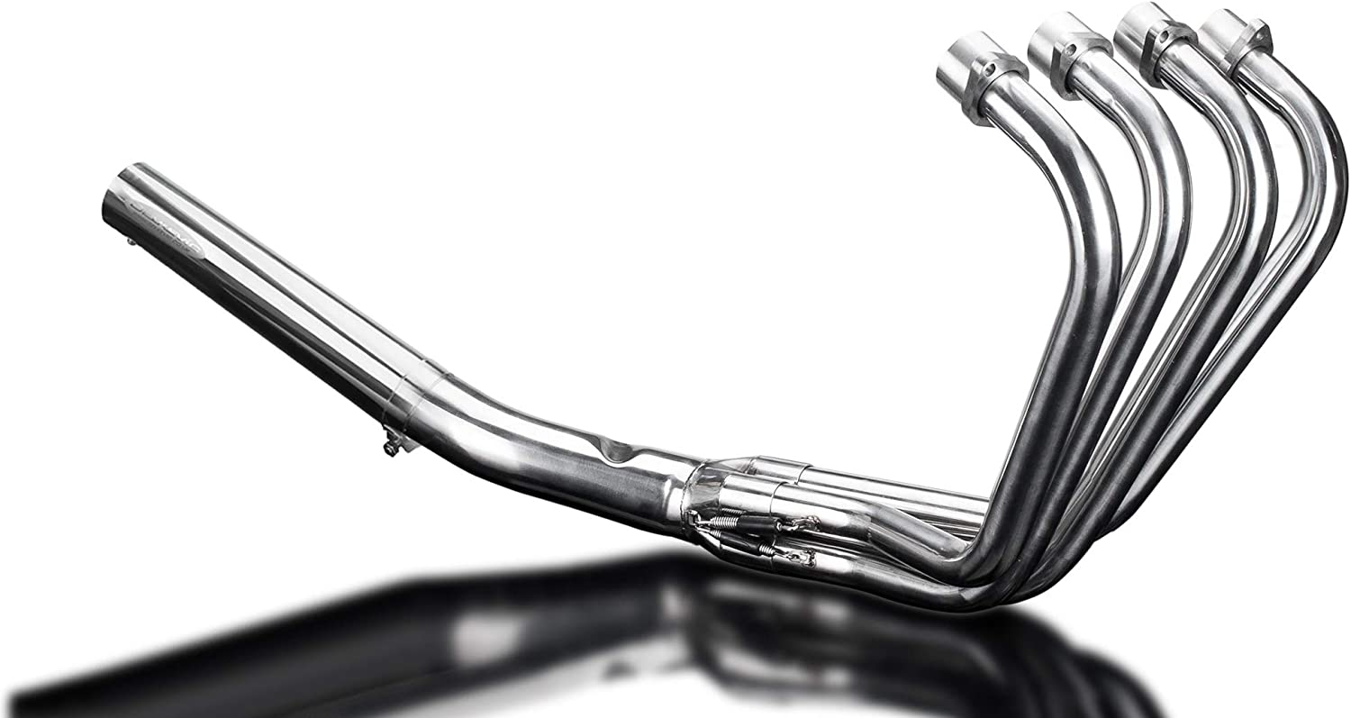 Delkevic Aftermarket Complete System compatible with Suzuki GS1100E /& GS750 1980-1983 with Classic Straight Muffler and Stainless Steel 4-1 Headers