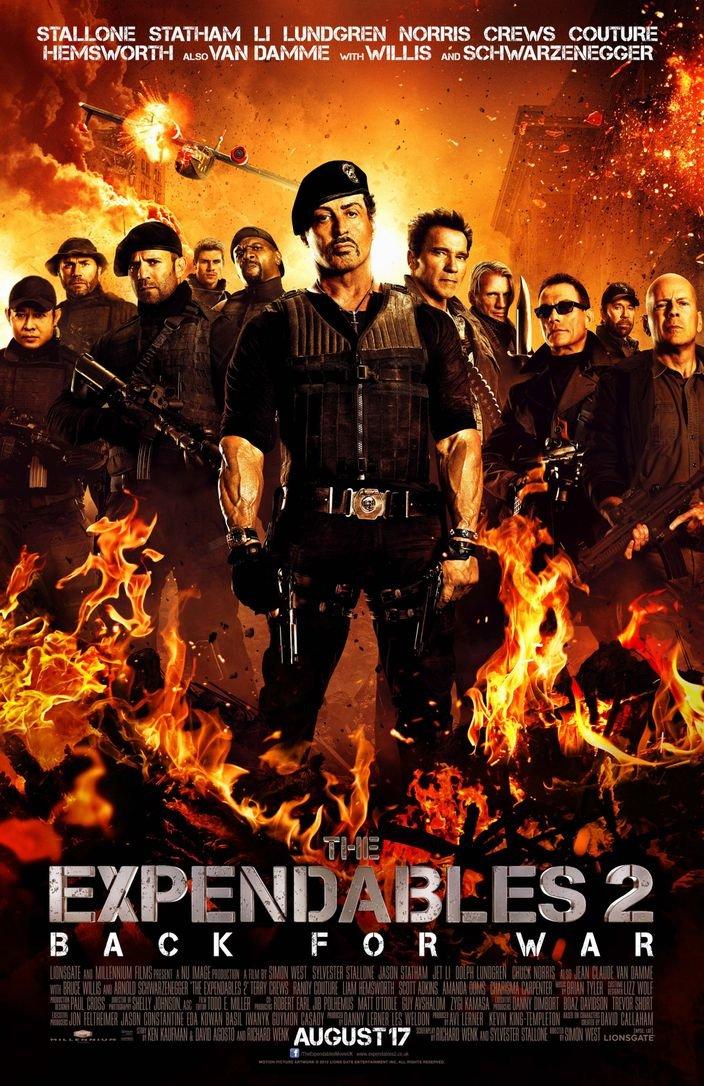 The Expendables II (14x22 inch, 35x54 cm) Silk Poster Seta Manifesto PJ18-4462 Wall Station