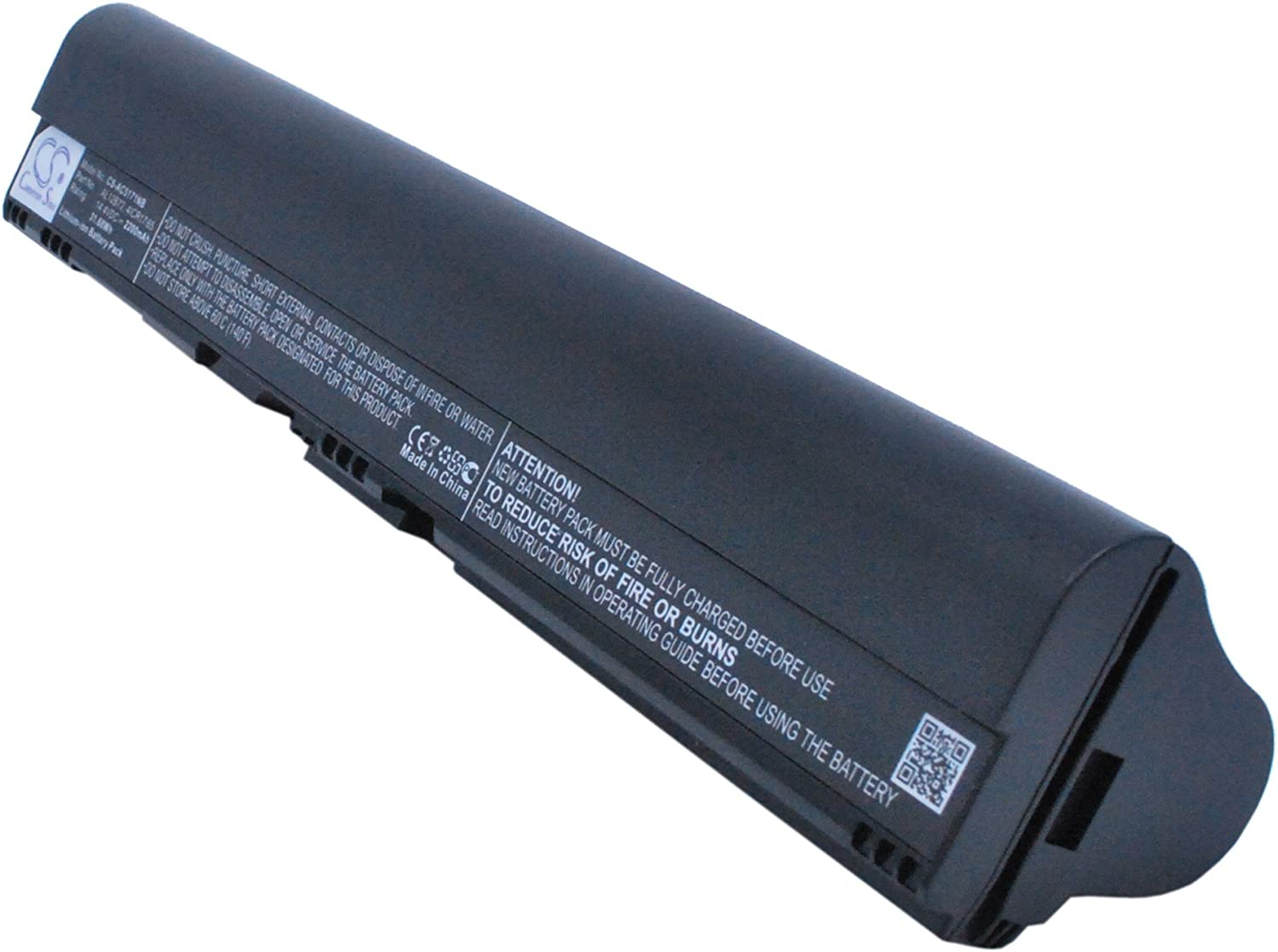 2200mAh Battery Replacement for AcerAspire One 725, Aspire One 756, Aspire V5-171, Chromebook AC710, Gateway One ZX4260, P/N 4ICR17/65, AL12B31, AL12B32, AL12B72, AL12X32