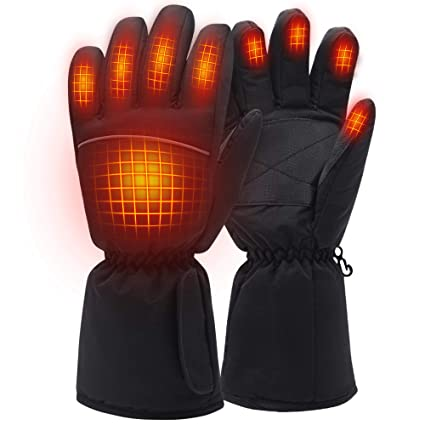 Electric Heated Gloves Rechargeable Battery Camping Hand Warmers Ideal Mens Skiing Gloves Women Mens Cold Weather Gloves Riding Gloves Outside Working//Fishing//Hiking
