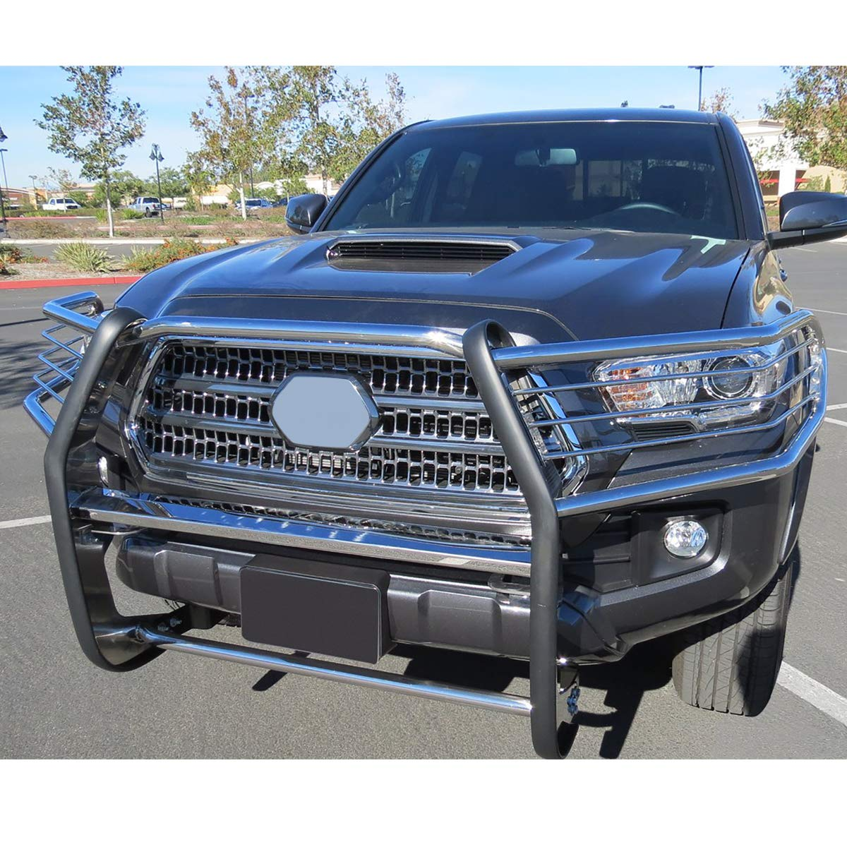 Pair 1.5OD Bars Stainless Front Bumper Brush Grille Guard for Toyota Tacoma 16-19