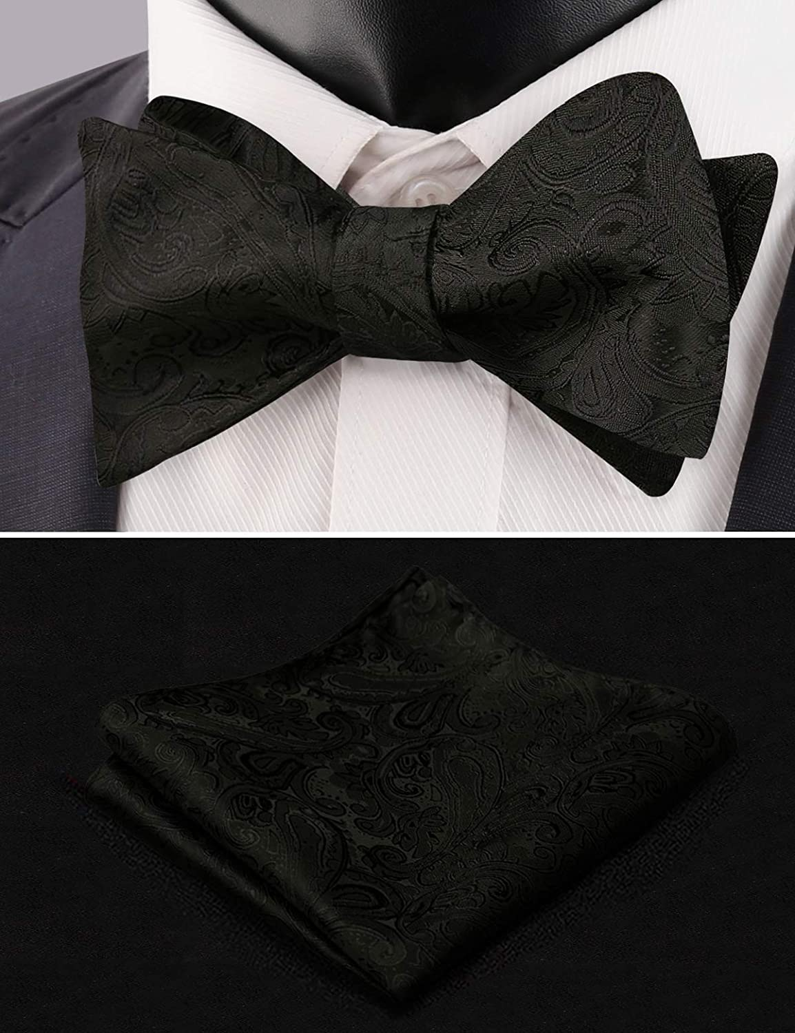 723132d8b Amazon.com  Alizeal Mens Adjustable Floral Paisley Self-tied Bow Tie ...