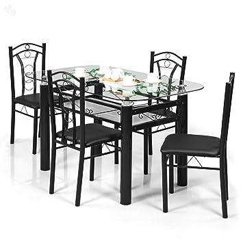 Royal Oak Indigo Four Seater Dining Table Set Black