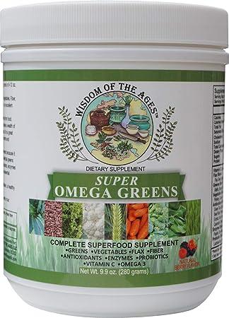 Amazon.com: Super Omega Greens Suplemento completo SUPERFOOD ...