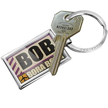 Amazon.com: Llavero Airportcode Bob Bora Bora – Neonblond ...