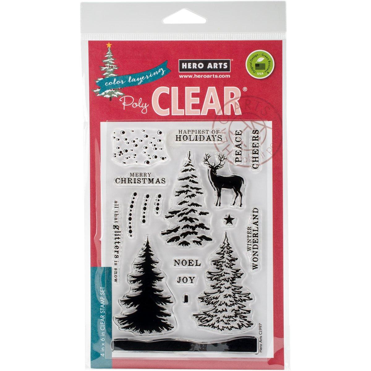 Hero Arts CL997 Color Layering Snowy Tree Card Making Kit