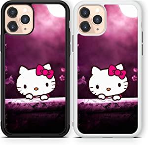 Hello Kitty case Compatible with iPhone 12 pro max Mini 11 XR X 7 8 SE Galaxy S20 Ultra S10 Note 10 20 TPU Cover SN152 (White, for iPhone 11 Pro max)