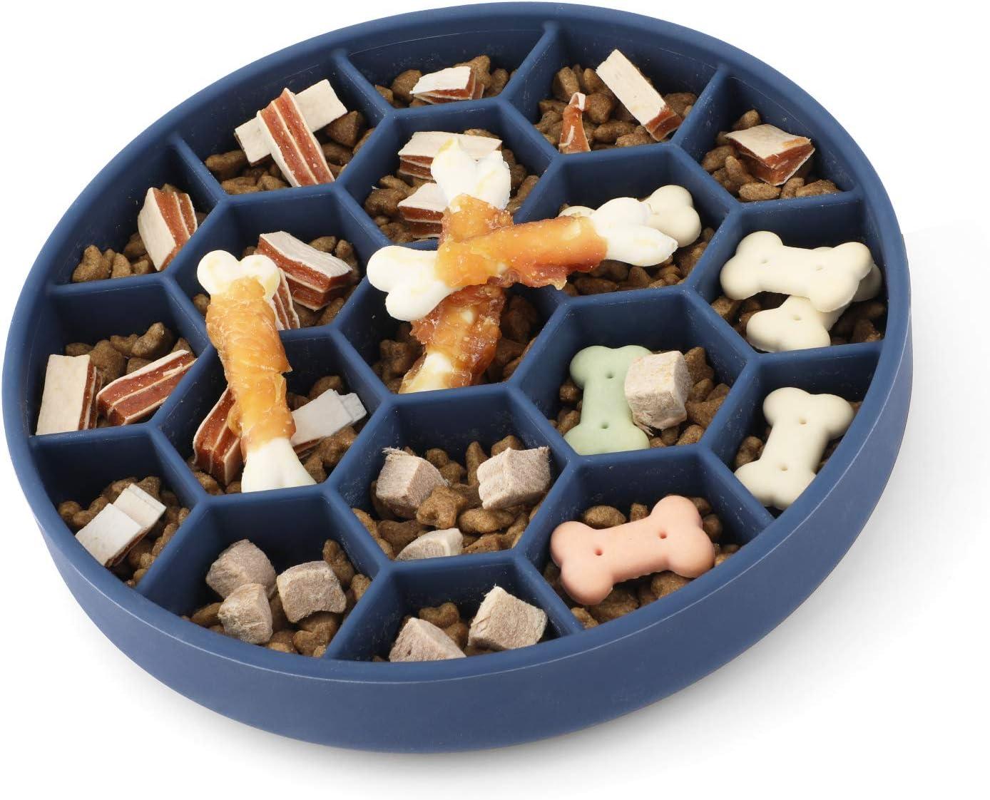 IOKHEIRA Slow Feeder Dog Bowls, Non Skid Slow Feeder Dog Bowl, Anti-Gulping Pet Slow Eating Dog Bowls, Fun Feeder Slow Bowl with Interactive Bloat Stop Dog Bowls