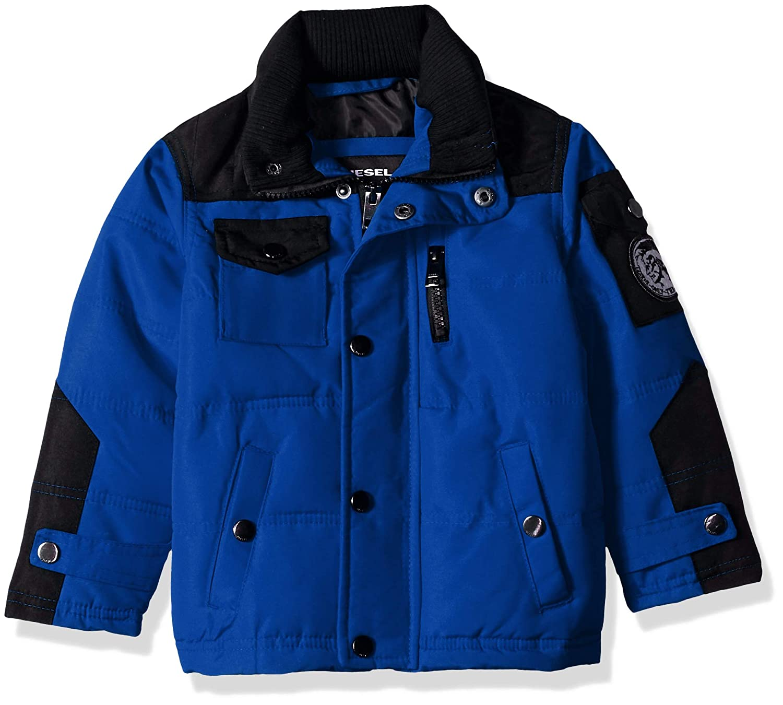 Diesel Boys Bubble Jacket with Sherpa Lined Hood