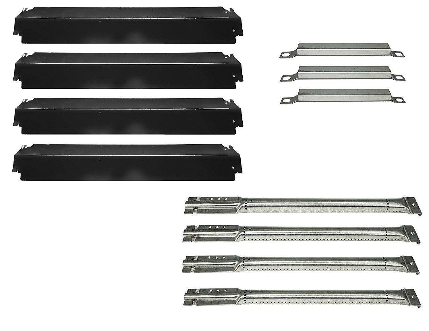 DOZYANT Parts Kit Replacement Charbroil Gas Grill Burners, Heat Plates and Crossover Tubes by DOZYANT