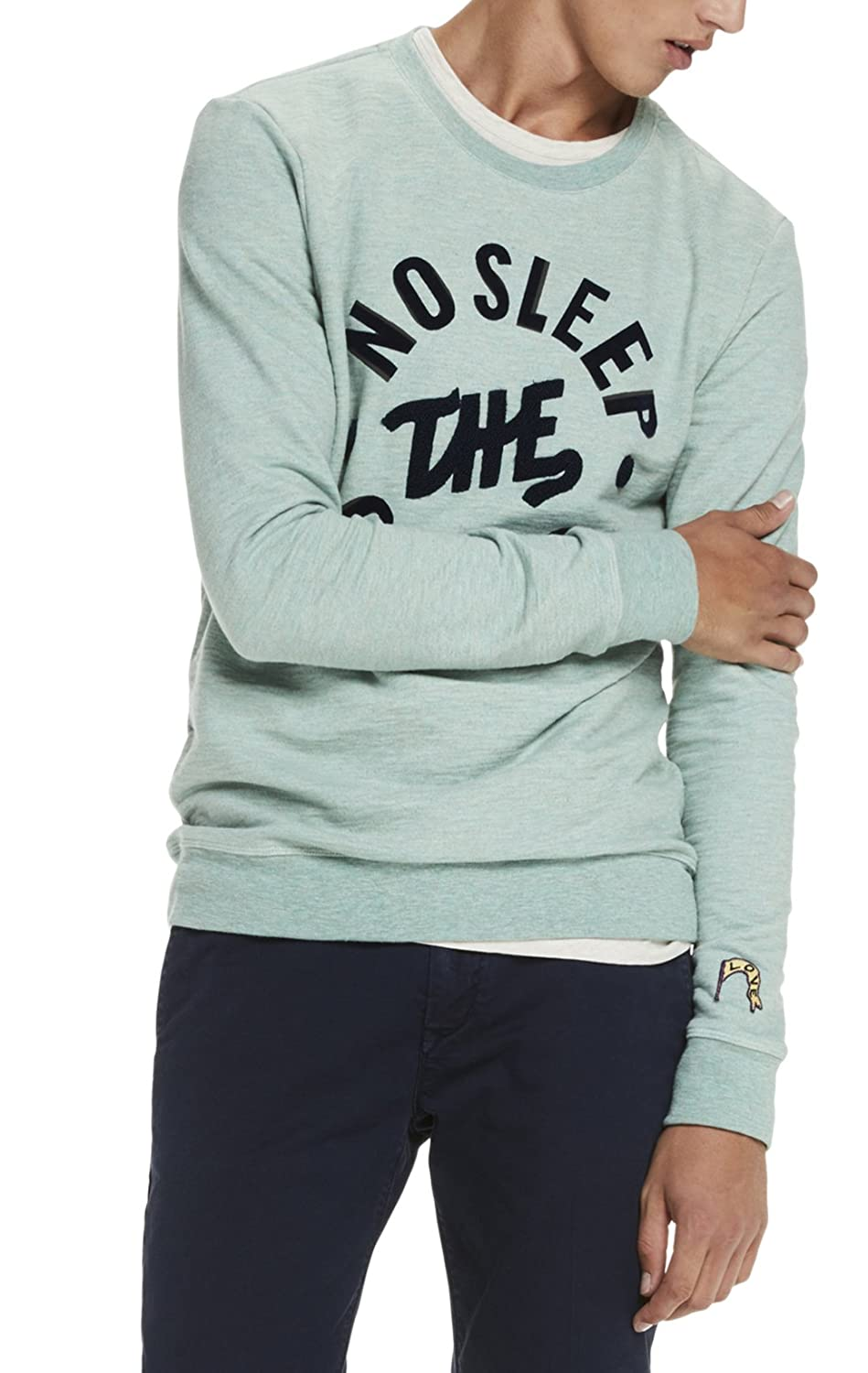 Scotch & Soda Herren Sweatshirt Classic Crewneck Sweat with Chest Artwork