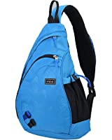 Mixi Sling Chest Bag Shoulder Backpack Crossbody Bag Daypack for School Cycling Hiking Camping Sport Travel