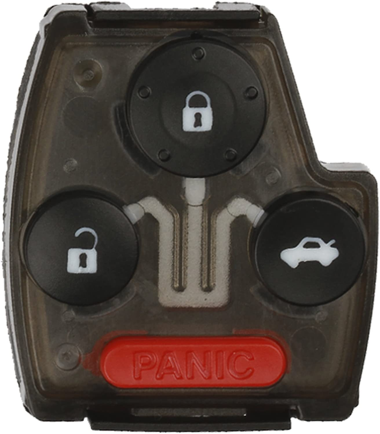 KeylessOption Keyless Remote Uncut Key Fob Shell Button Pad With Chip Slot For OUCG8D-380H-A