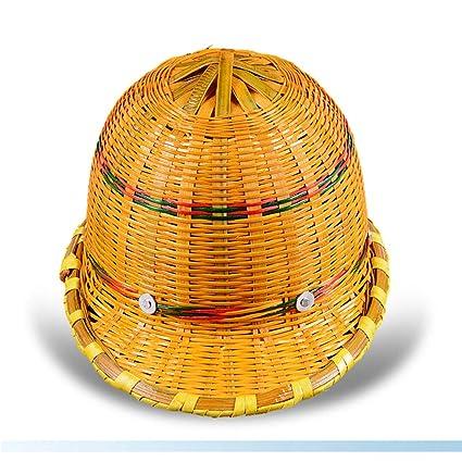 MZ JH& Casco De Bambú - Ventilación del Sitio De Construcción Casquillo De Construcción De Protección