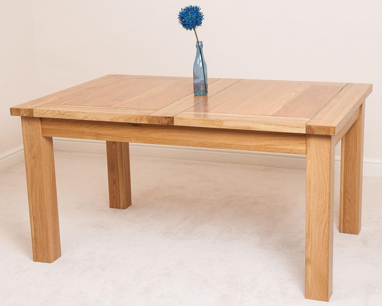 Cotswold Rustic Solid Oak Extending Dining Table 132cm 198 cm