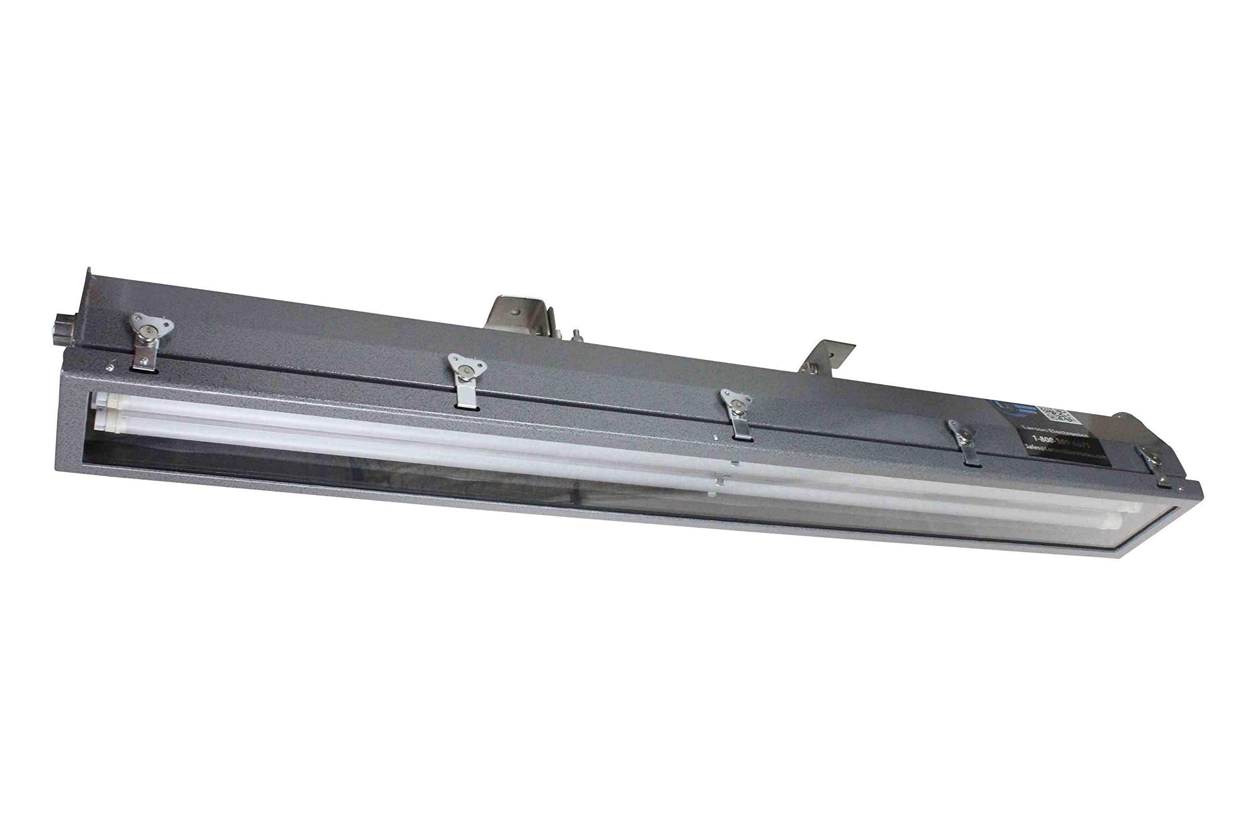 Explosion Proof LED 4' Pivoting Light -3 Lamp- LED Oil Rig Fluorescent Replacement- C1D2-347/480VAC by Larson Electronics