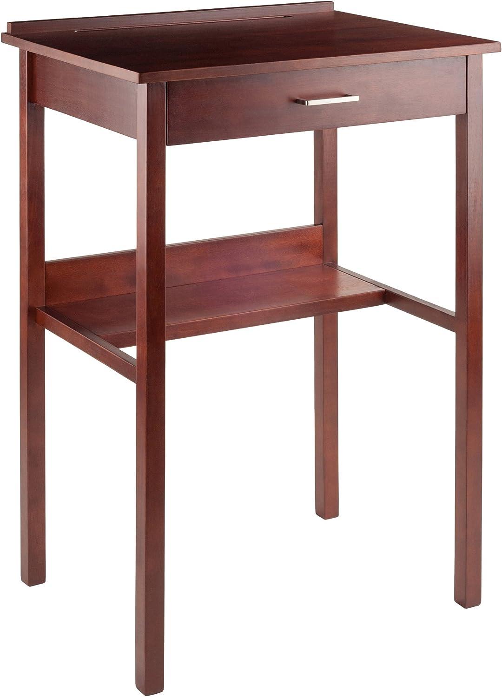 Winsome 94627 Ronald High Desk, Walnut