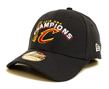 5cc1352bba905 Cleveland Cavaliers Navy 2016 NBA Finals Champions New Era 39THIRTY Trophy  Champs Flex Fit Hat (