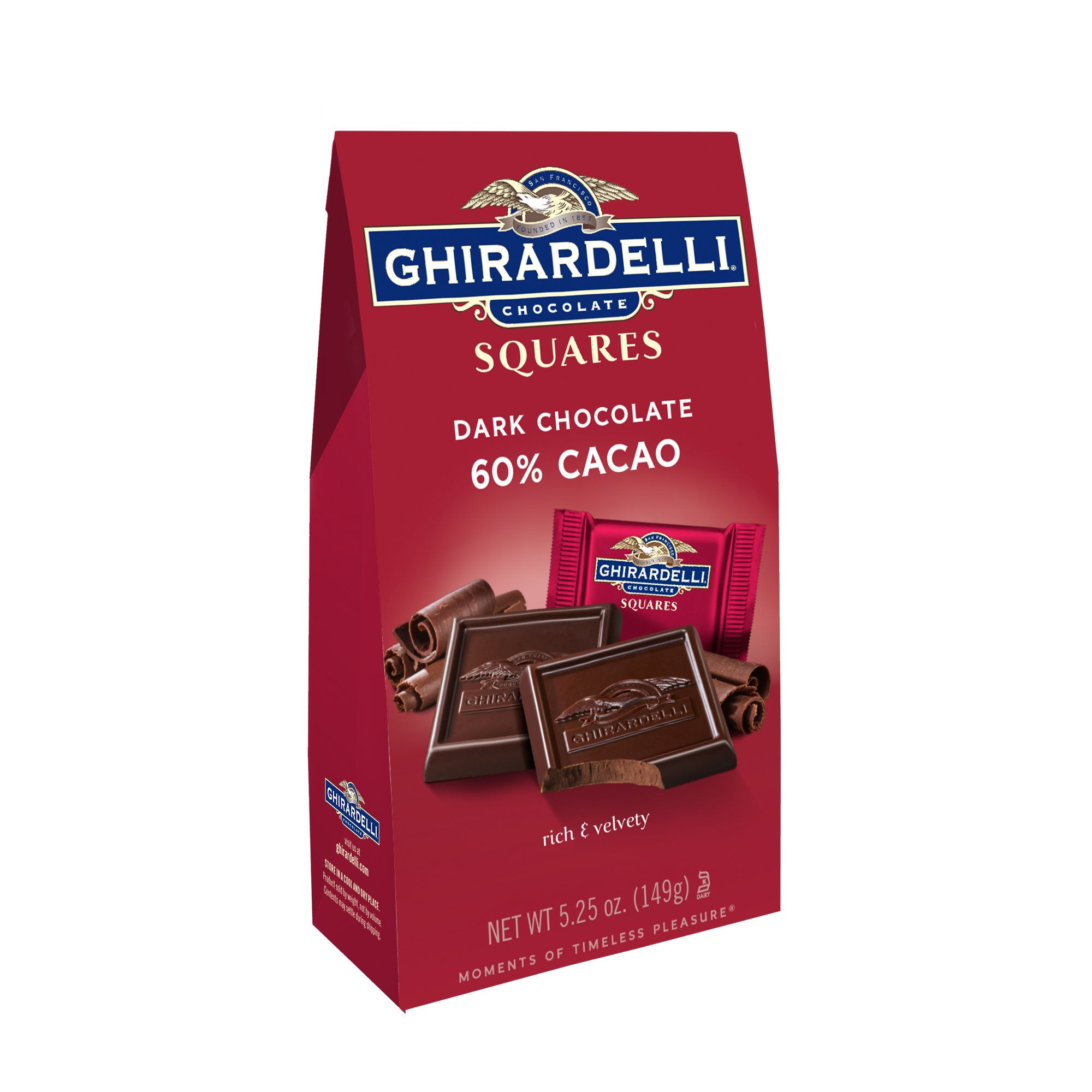 Ghirardelli Chocolate Squares, Dark Chocolate, 5.25 oz., (Pack of 6) by Ghirardelli (Image #1)